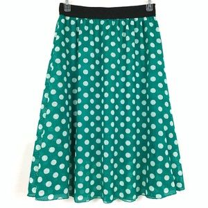 Lularoe Emerald Green Polka Dot Skirt